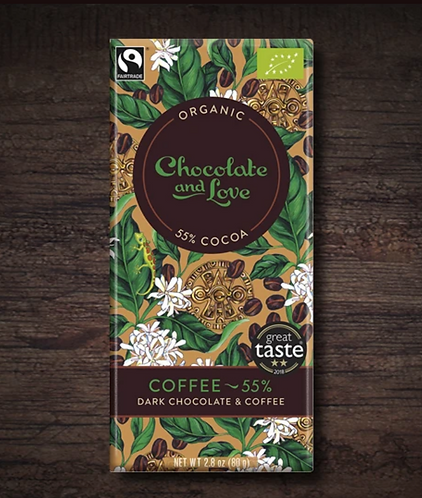 Chocolate & Love Fairtrade Organic Coffee 55% Chocolate