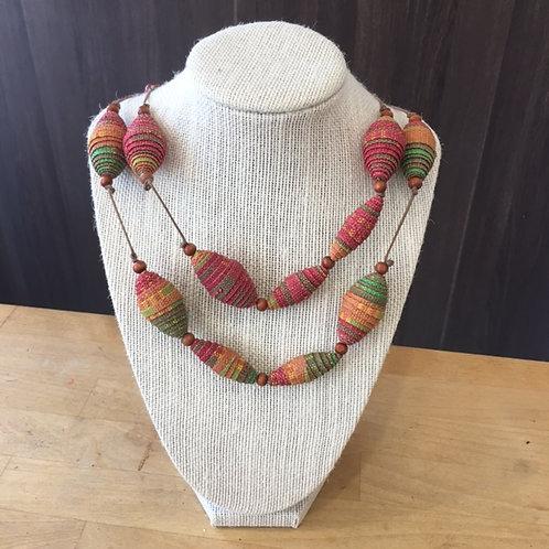 Upcycled Necklace Spindle Shape