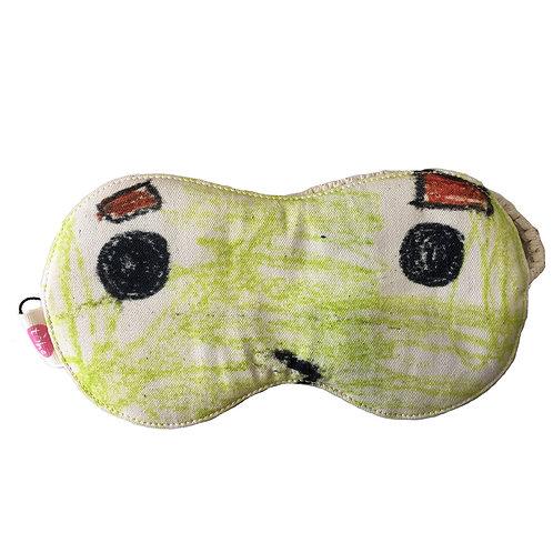 Cotton Eye Mask - Eyes Open Green