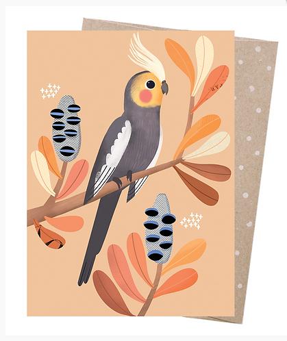 Earth Friendly Greeting Card - Charming Cockatiel