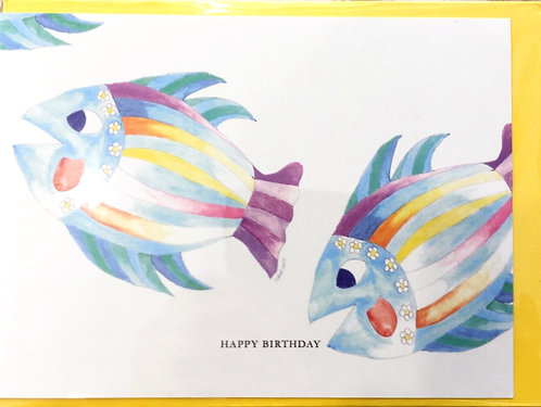 Tall Tales Greeting Cards - Two Fish