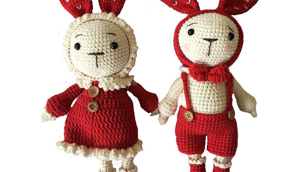 Red Crochet Bunny