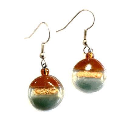 Round Glass Earrings