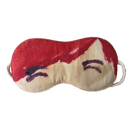 Cotton Eye Mask - Eyes Shut Red