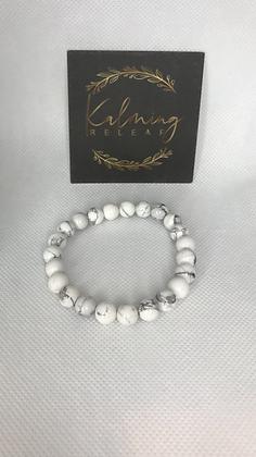 White Howlite (Soothing Stone) Bracelet