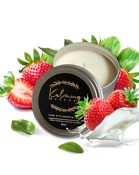 kamling releaf candle - strawberries and