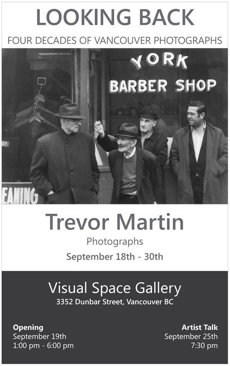 Trevor Martin Photographs Poster copy