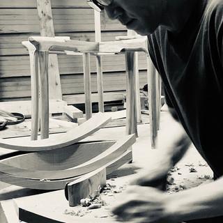 Seiji Kuwabara at work in his studio
