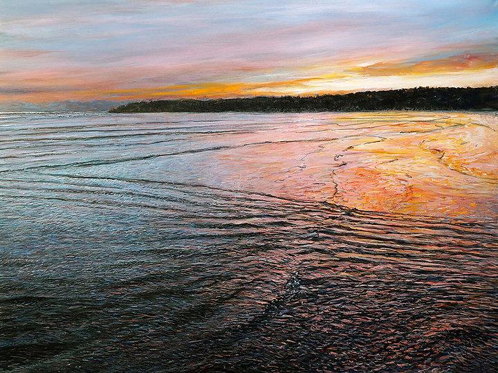 Jim-Park--Long-Beach-Sunset--36x48--acry