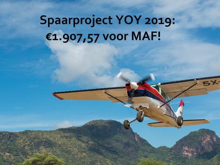 Resultaat spaarproject 2019