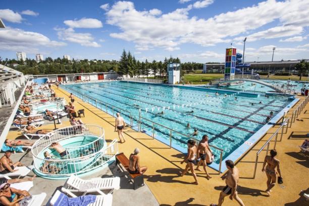 Head to an Icelandic swimming pool.