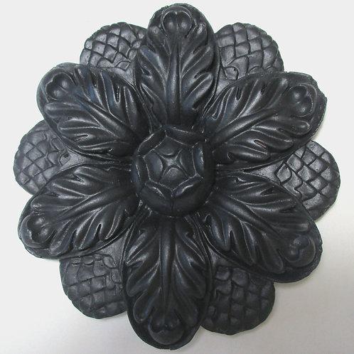 BLACK DECORATIVE FLOWER SCONCE