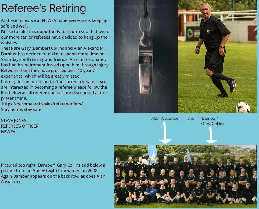 Referee's Retiring