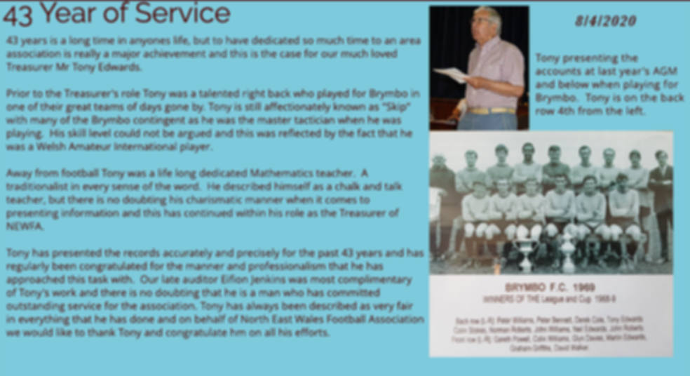 43 Years of Service