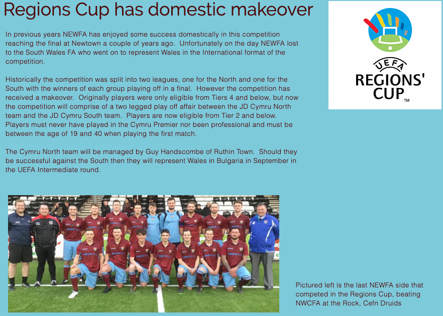 Regions Cup Make over