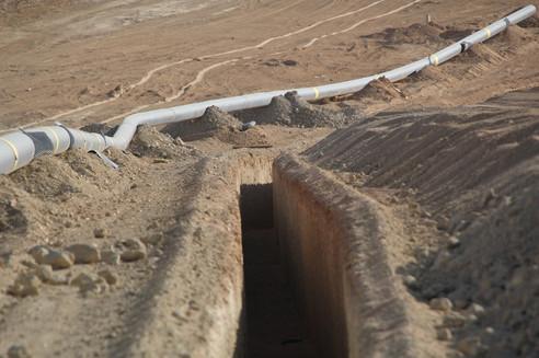 Ashalim power plant pipeline