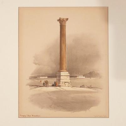 David Roberts - Pompey's Pillar Alexandria