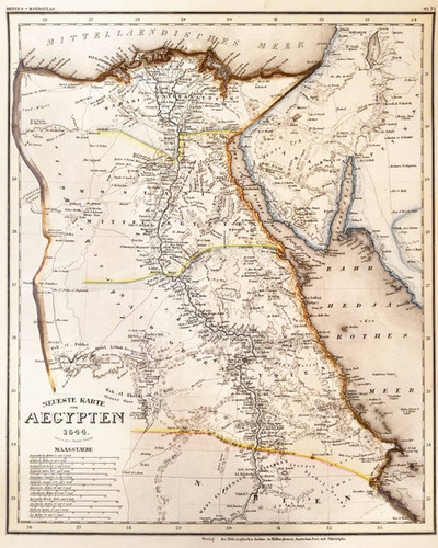 Newest Map of Egypt, 1844