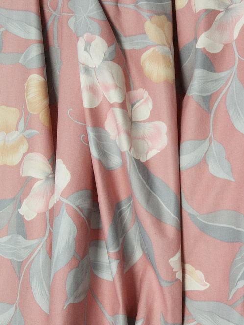 Tissu Vintage rose poudré floral