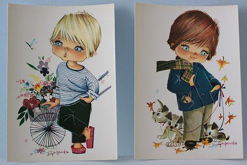 Cartes postales Vintage enfant