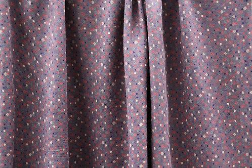 Tissu Violet à petits points