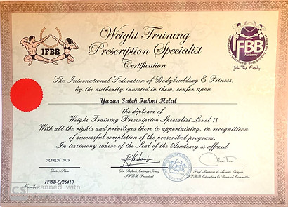IFBB Diploma of Advanced Weight Training Prescription Specialist