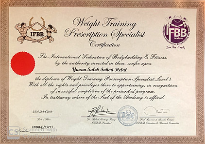 IFBB Diploma of Weight Training Prescription Specialist