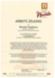 Hotel Jobs Tirol - Zeugnis 01