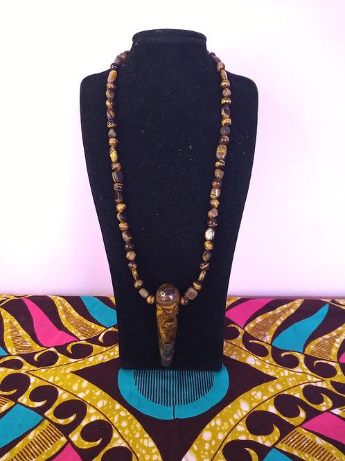 Tiger Eye Pendant & Necklace