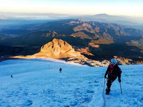 En la cumbre del Pico de Orizaba