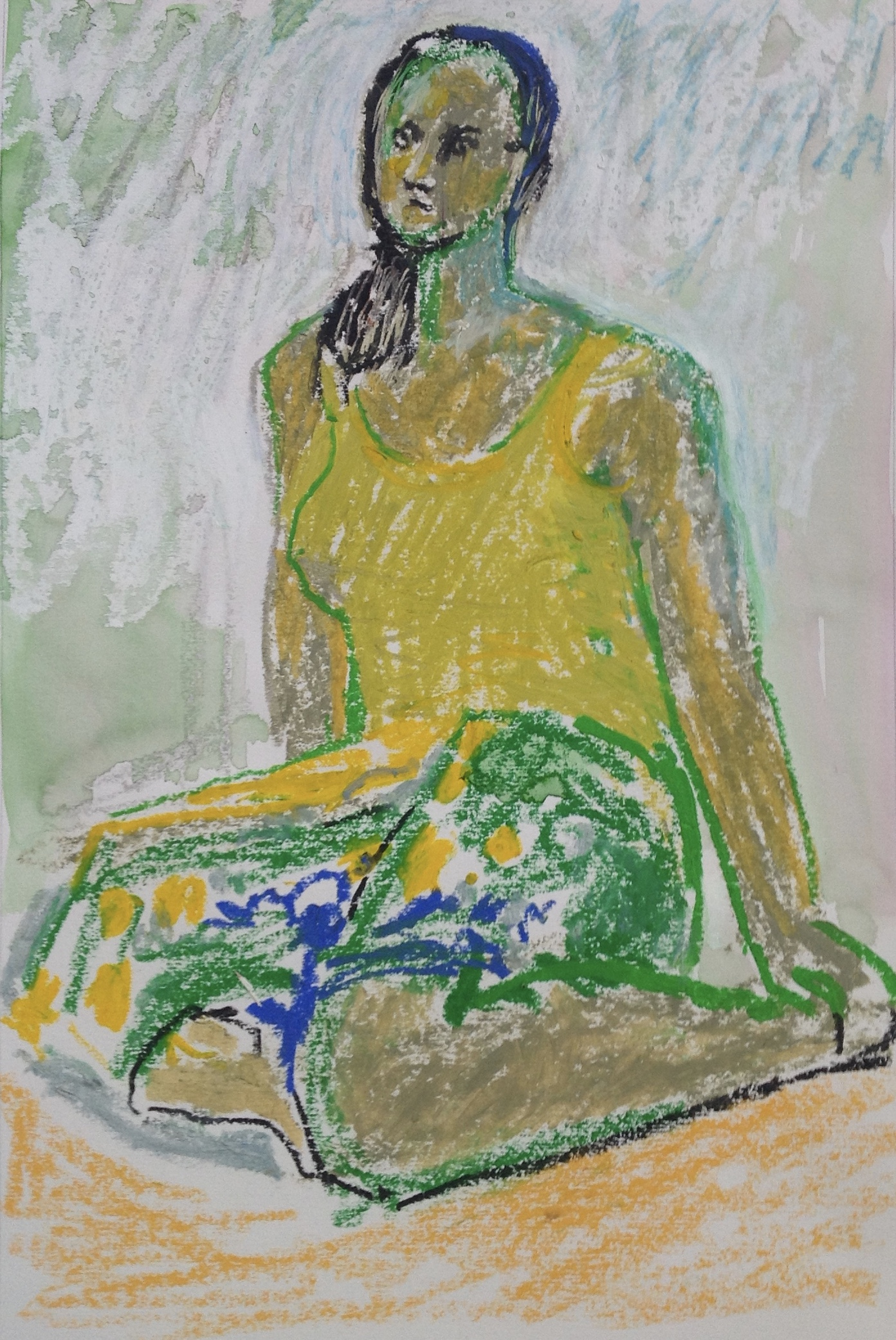 Sharon in Yellow and Green