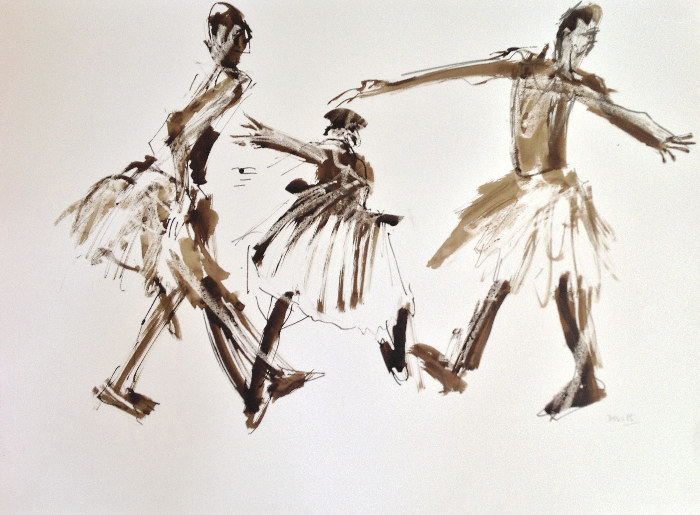 Three Dancers in Tutus ii