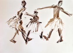 Three Dancers in Tutus ii