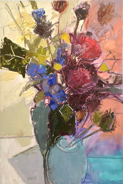 Chrysanthemums and Thistles