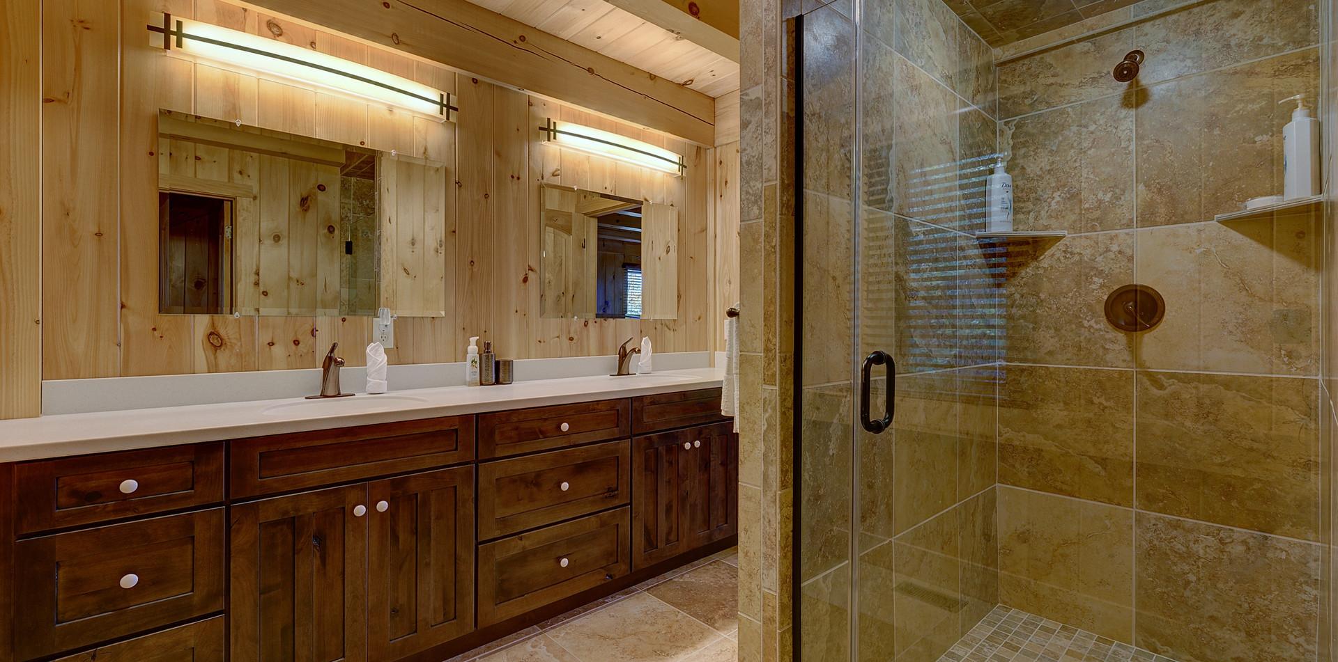 Luxurious walk-in shower.
