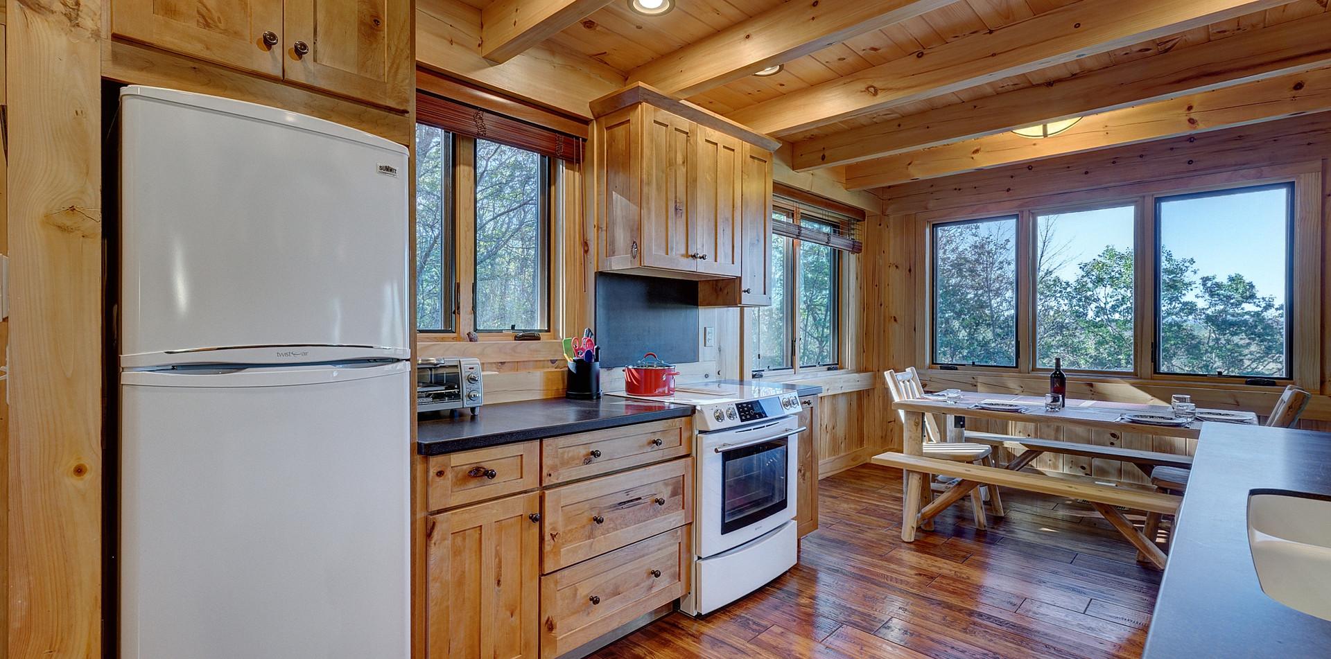 Even the kitchen boasts amazing mountain views.