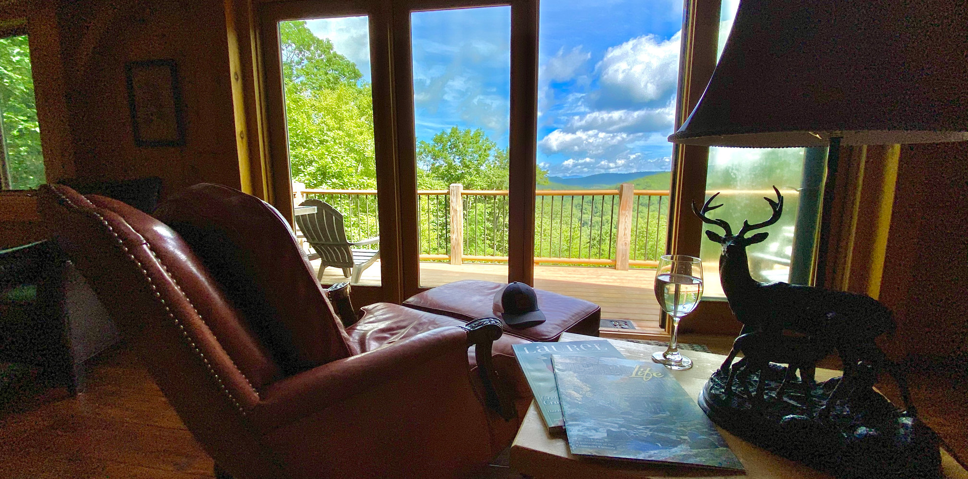 Grab your favorite book or attend a web conference with a view.