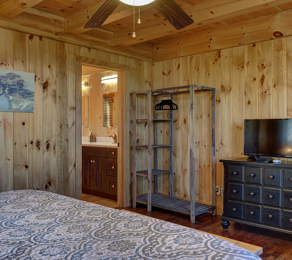 """The master bedroom also features a 32"""" HD television with DirecTV so you won't miss any of your favorite shows."""
