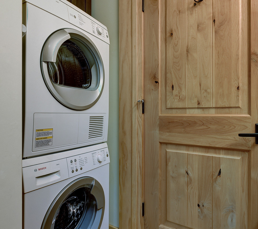 You'll be able to take care of the laundry with our high-end Bosch washer and dryer.