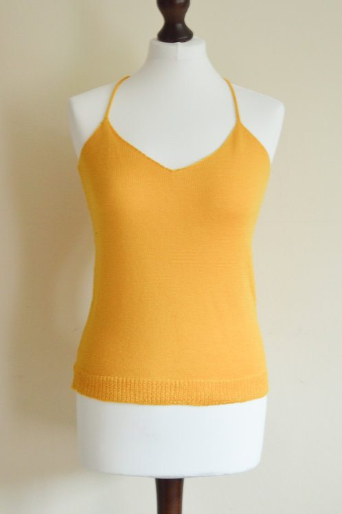 Yellow knitted cami