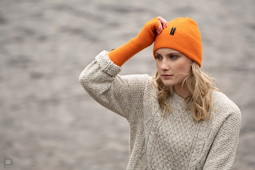 Bright Orange Cosy Winter Wrist Warmers