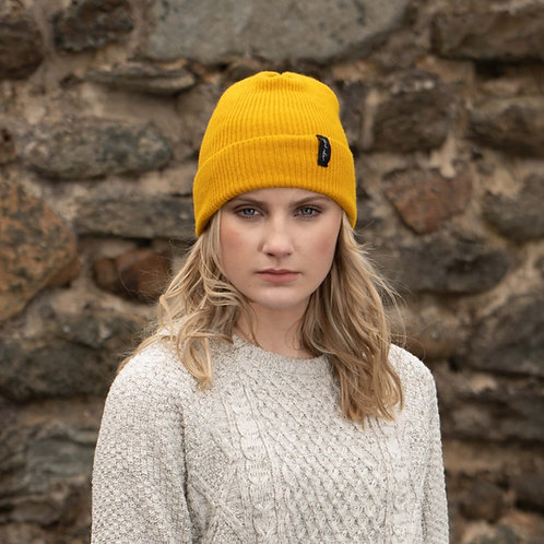 Mustard yellow hat
