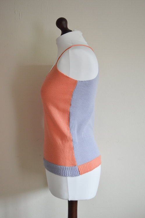 Colour block knitted cami