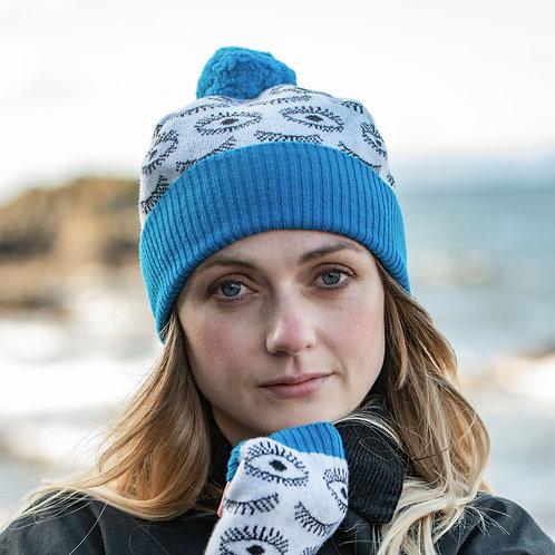 'Eye Spy' Hat in Blue
