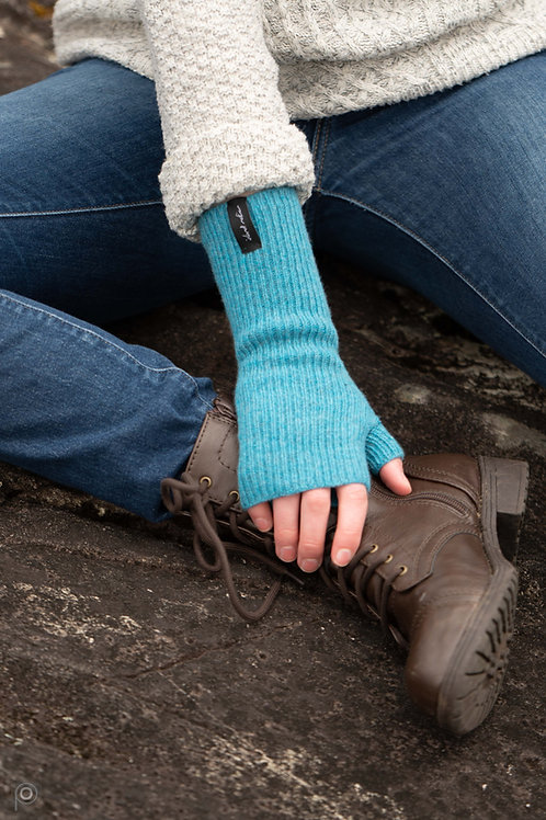 Teal Winter Wrist Warmers