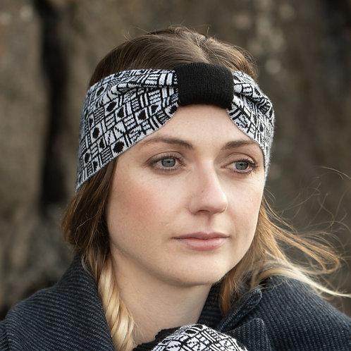 'Geo' Headband in Black and White