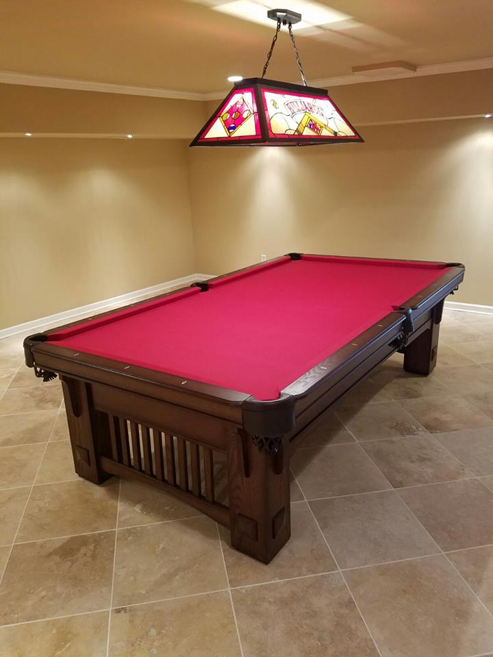 Finished Basement w/ beautiful pool table right in the heart of the basement