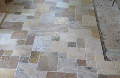 Travertine Pattern Alpharetta Job