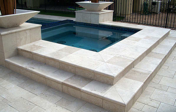 White 18 x 18 Travertine