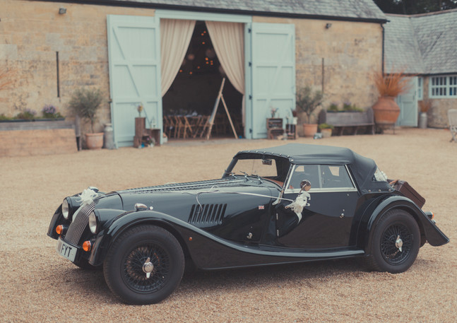 Wedding Car _ Barn Venue Wiltshire _ Ash